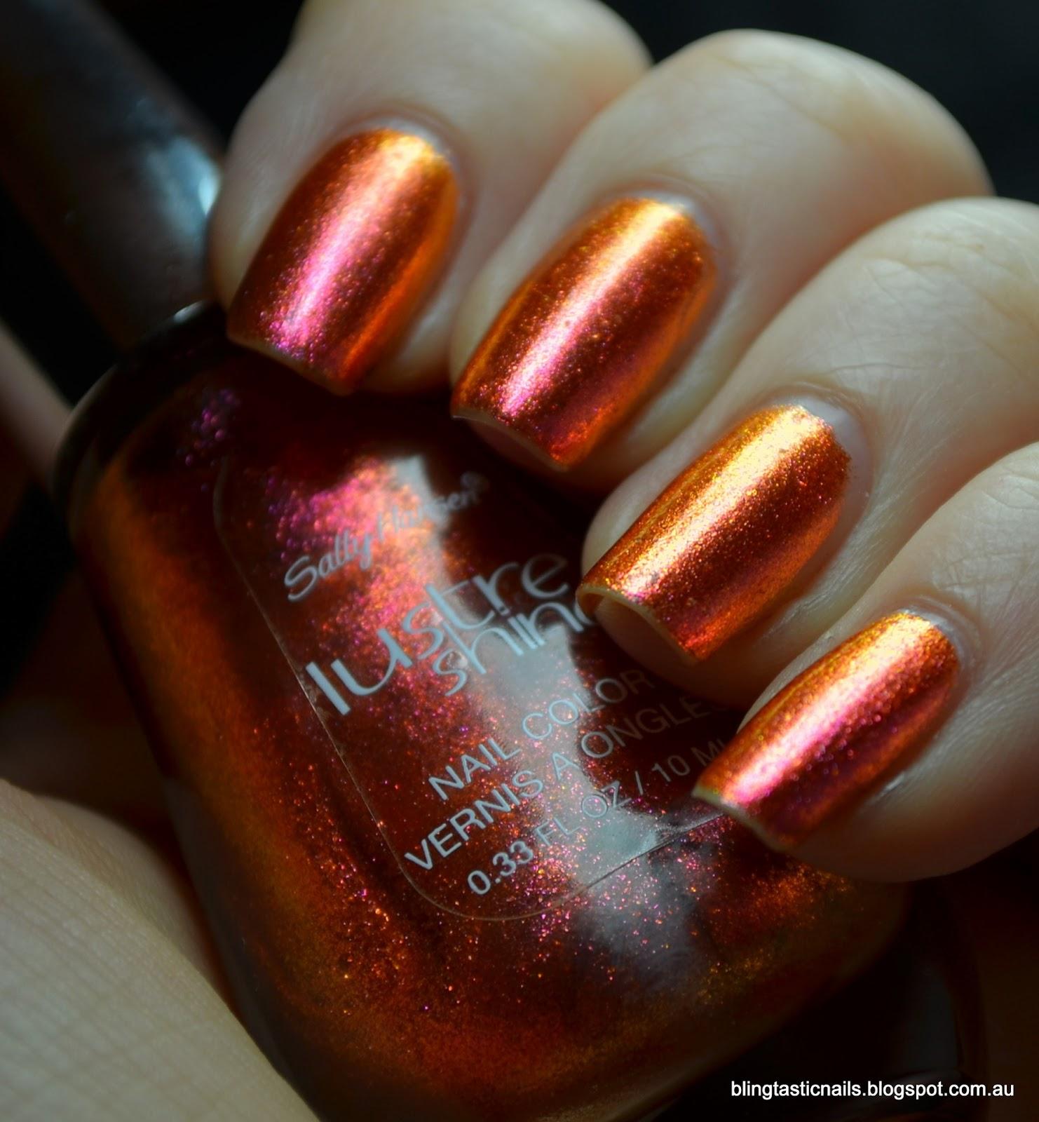 Jas\'s Blingtastic Nails: Sally Hansen Lustre Shine Lava