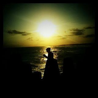 sunset pantai glagah indah