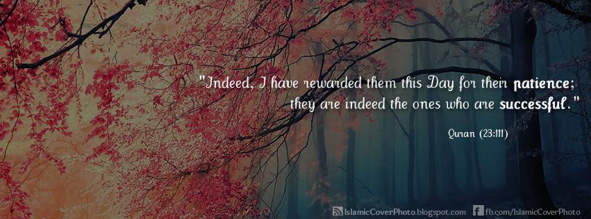 اغلافة فيس بك ايات 2015 Quran_23_111_Islamic+Cover+Photo