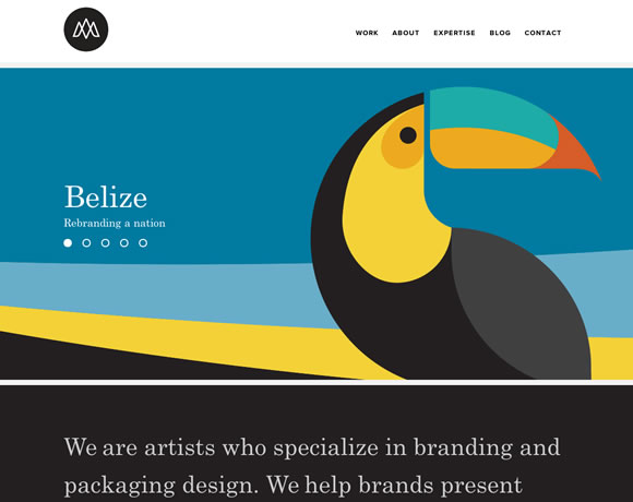 13 Beautiful Examples of Bold Colors in Web Design