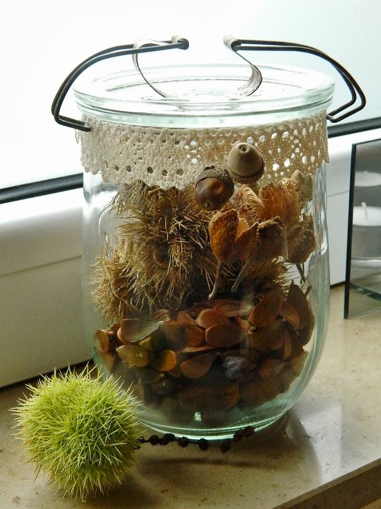 Ninifee 39 s kleines cottage herbstdeko im glas for Herbstdeko im glas