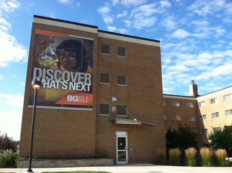 huge residence hall marketing poster