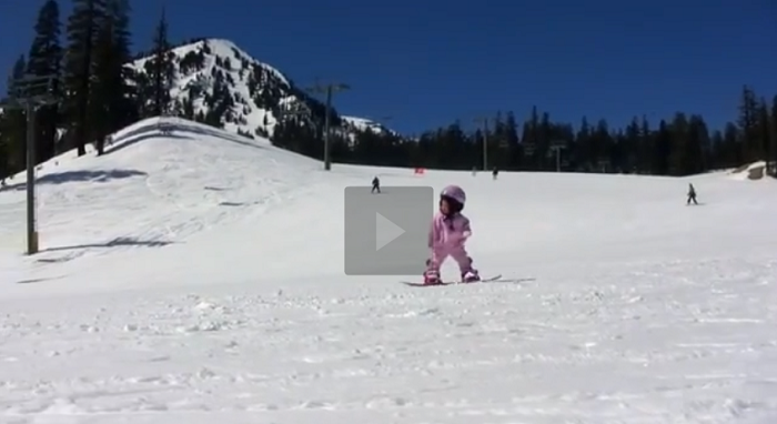 1 Year-Old Snowboards Better Than Most People. This Make You Smile!