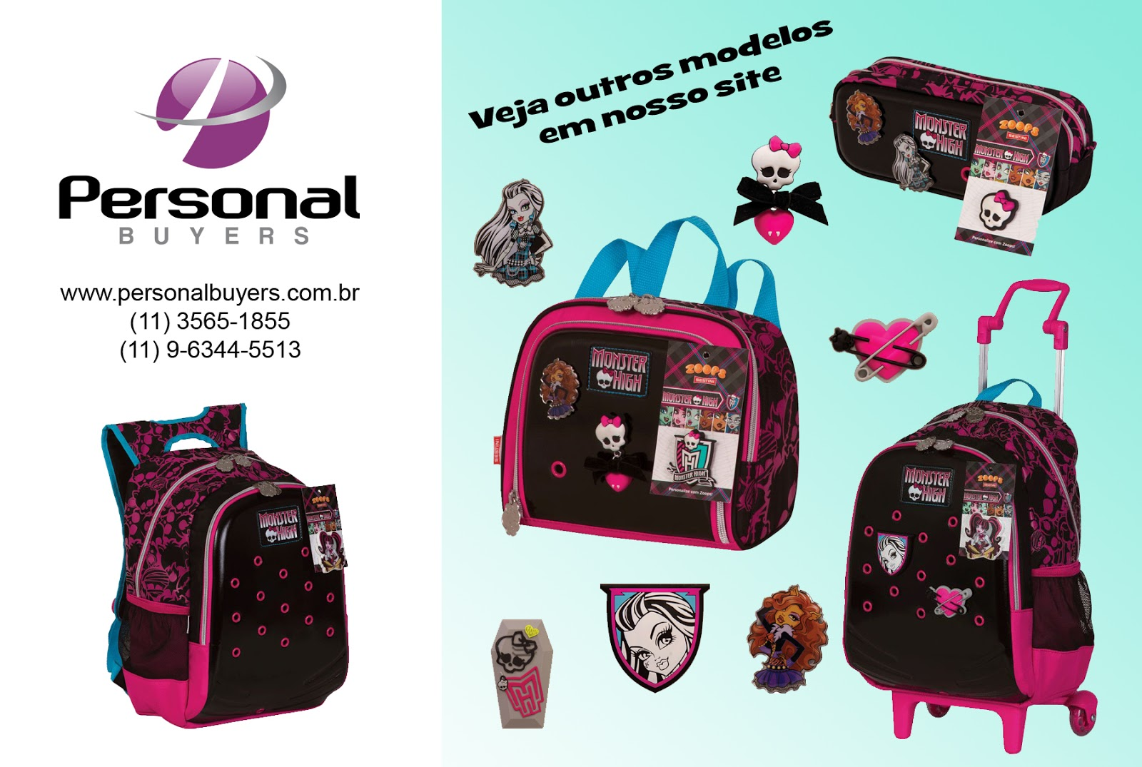 personal buyers linha escolar monster high zoops