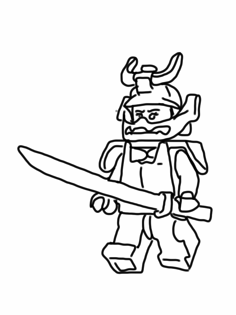 Lego Ninjago Coloring Pages Aegean Drawn