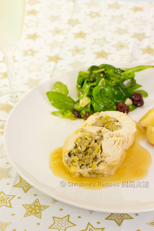開心果蘑菇雞卷 Rolled Chicken with Pistachio and Mushroom01