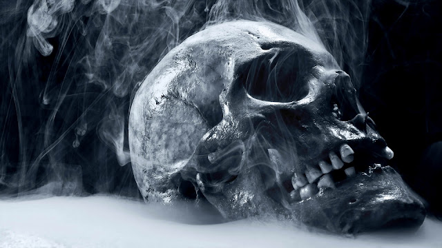 Smoking Skull HD Wallpaper