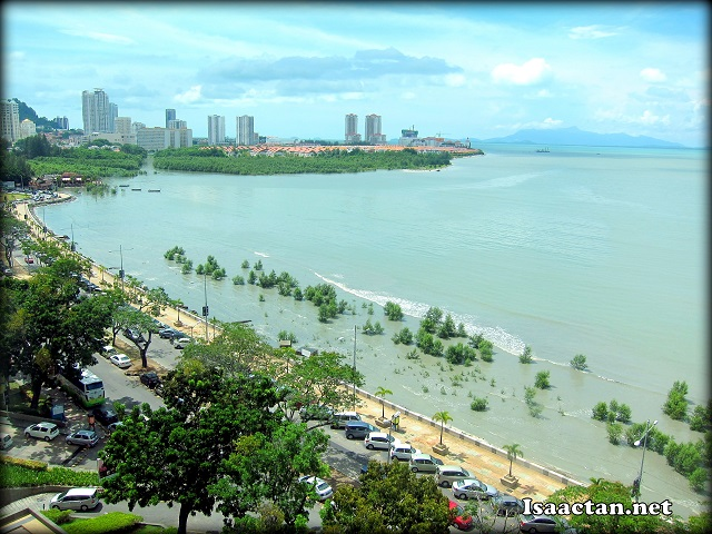 The wonderful sea view from my room at G Hotel Penang