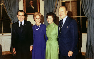 Photo of Nixon and Ford with their Spouses