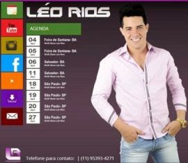 Site do cantor Léo Rios