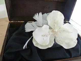 tocado de novia orquídea