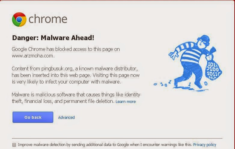 Malware attack, arzmoha.com, blog, tips