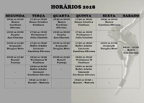 HORÁRIOS 2018