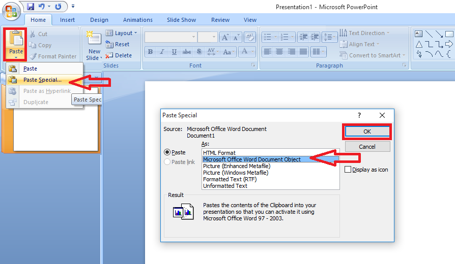 Learn New Things: How to do Exact Copy & Paste from Word to PowerPoint