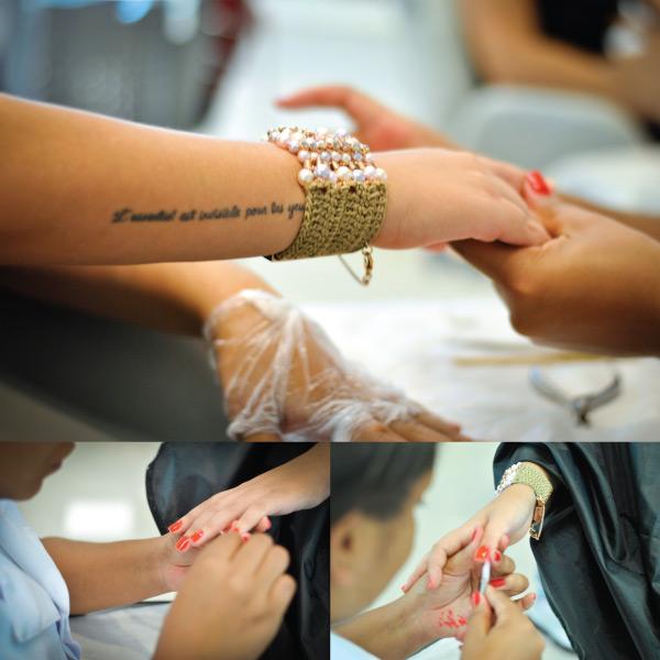 manicure - fazendo unha - passando esmalte - salão platinum visage