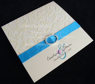 wedding invitations with ribbon
