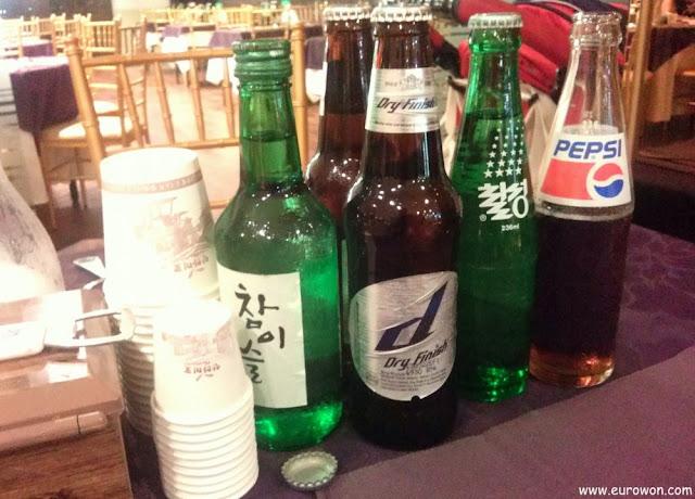 Bebidas en una boda coreana