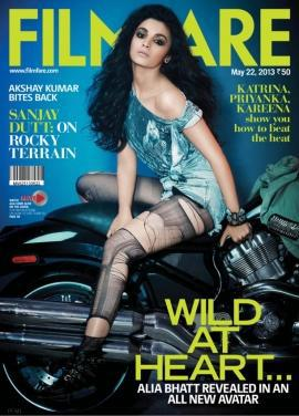 Alia Bhatt in New Avatar on Filmfare - May 2013 issue