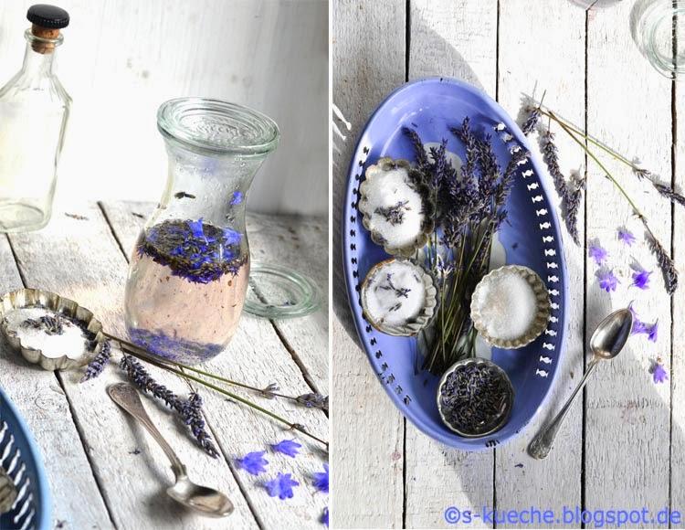Lavendelsirup und Lavendelzucker
