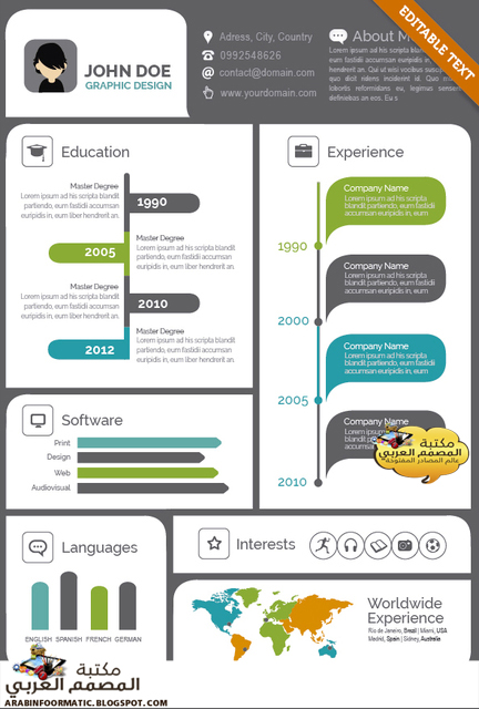 Infographic resume builder software