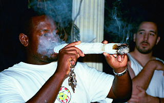 funny pictures black man with mega joint