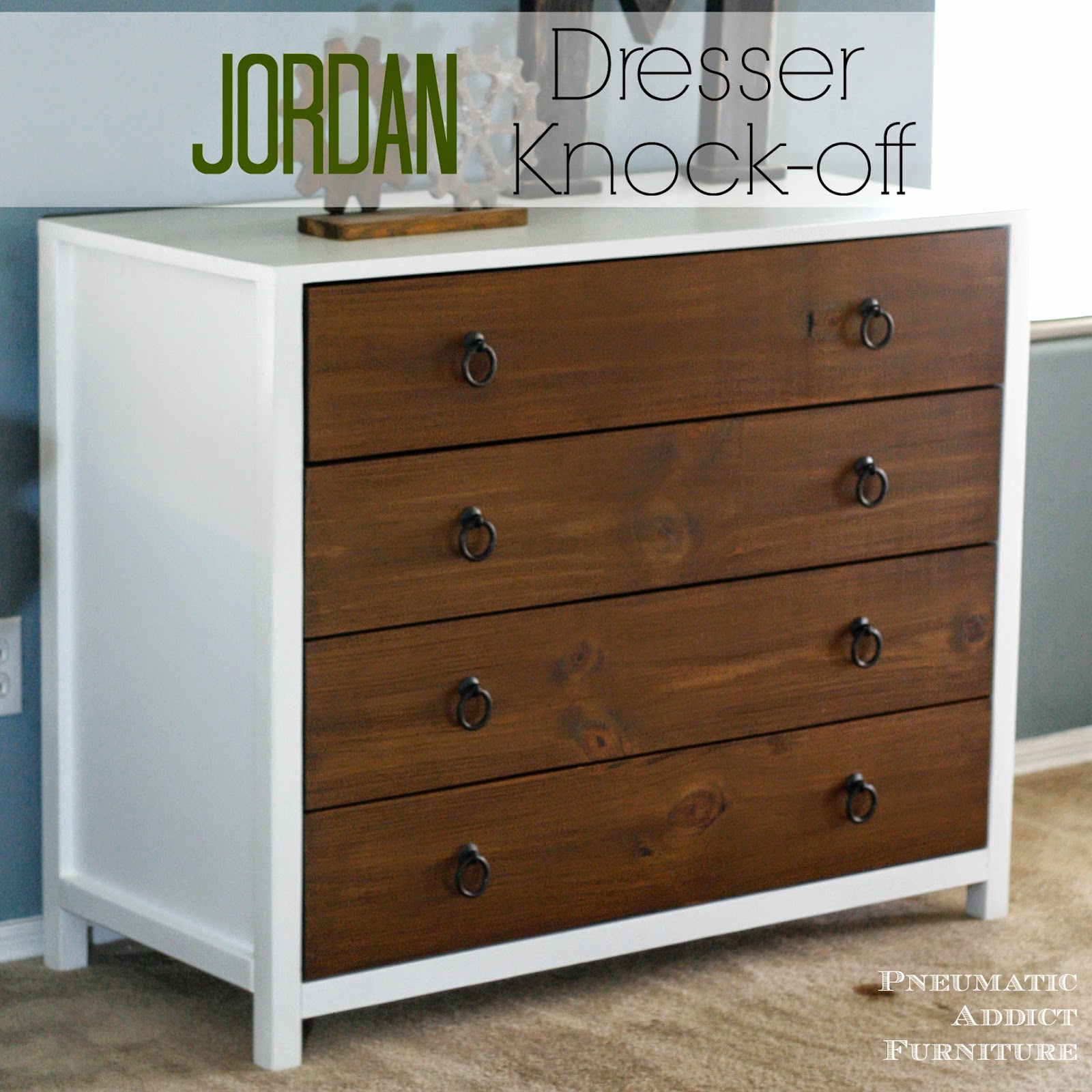"DIY Pottery Barn Kids ""Jordan"" dresser knock-off"