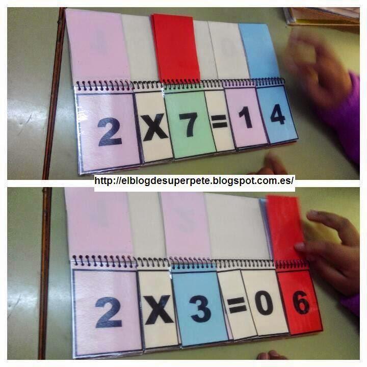 ... el Libro Móvil de las Tablas de Multiplicar para vuestras clases