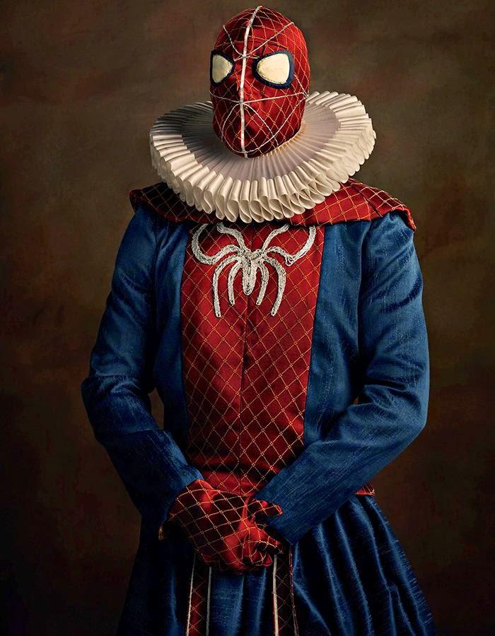 superheroes en el siglo 16 Spider Man