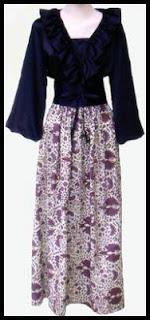Update Model Baju Batik Gamis Aneka Warna Kombinasi