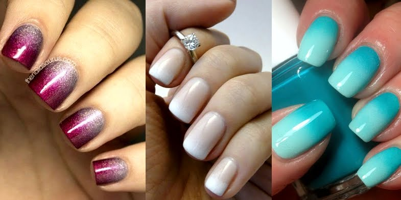 Gradient Wedding Nail Ideas!
