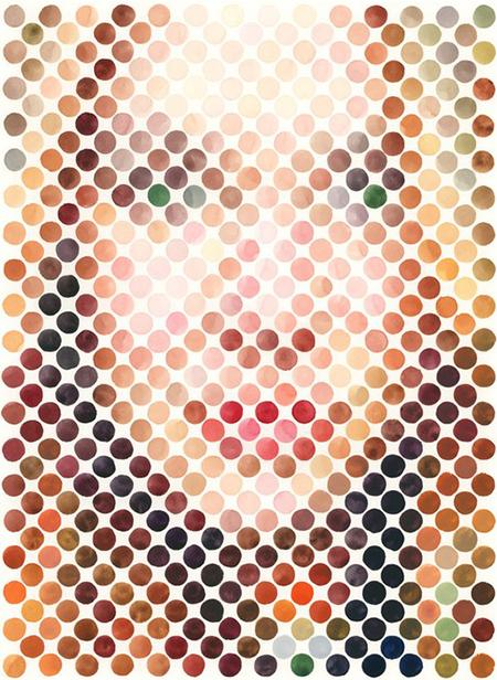 Nathan Manire. Retratos abstractos en acuarela