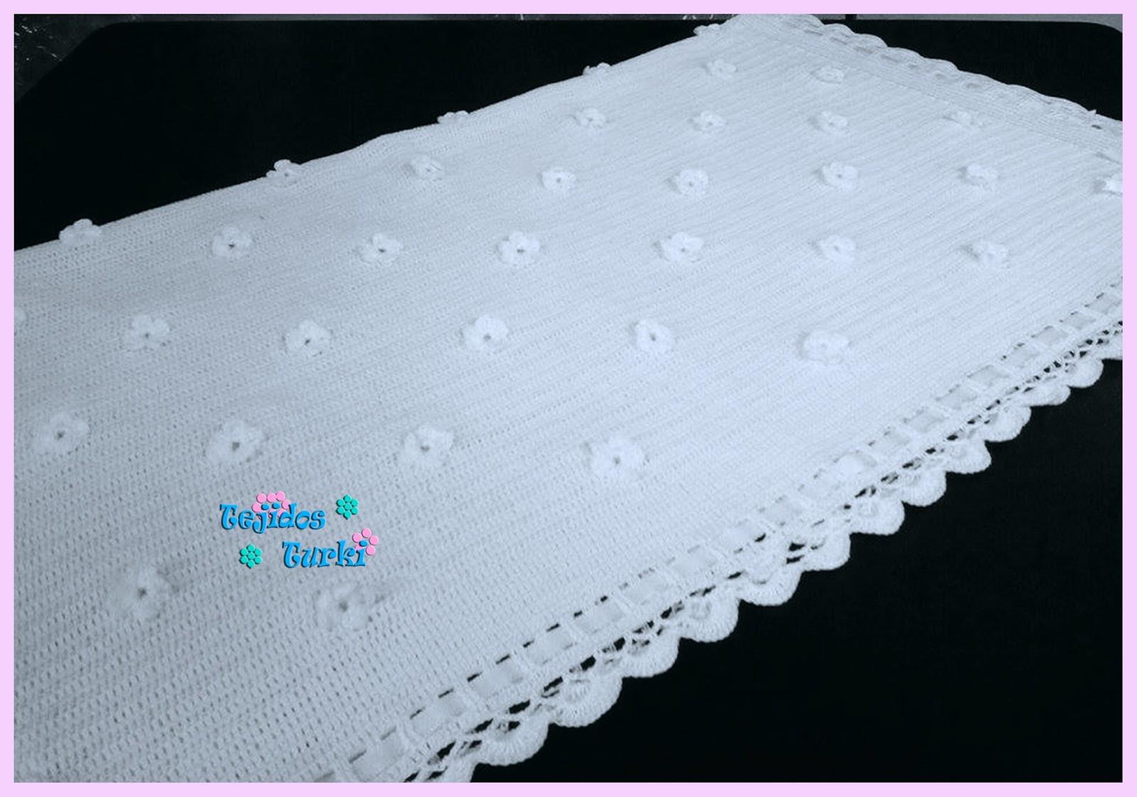 Mantas para bebe tejidos turki - Mantas de bebe hechas a ganchillo ...