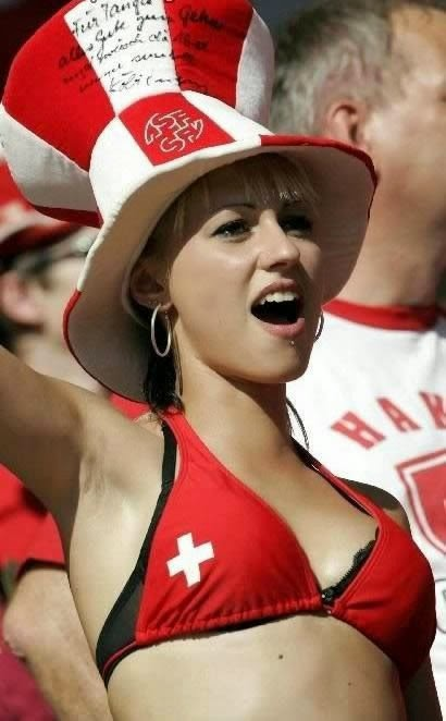World Cup Brazil 2014: sexy hot girls football fan, beautiful woman supporter of the world. Pretty amateur girls, pics and photos  Suiza suizas Switzerland