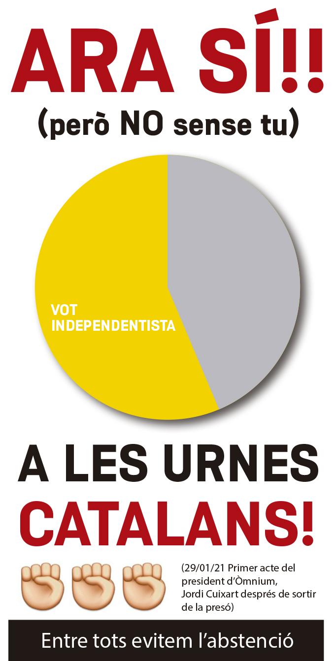 Ara sí, ... a les urnes Catalans
