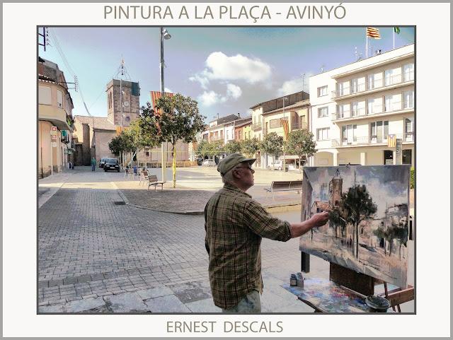 AVINYÓ-PINTURA-PLAÇA-FOTOS-PINTORS-POBLES-CATALUNYA-ARTISTA-PINTOR-ERNEST DESCALS-