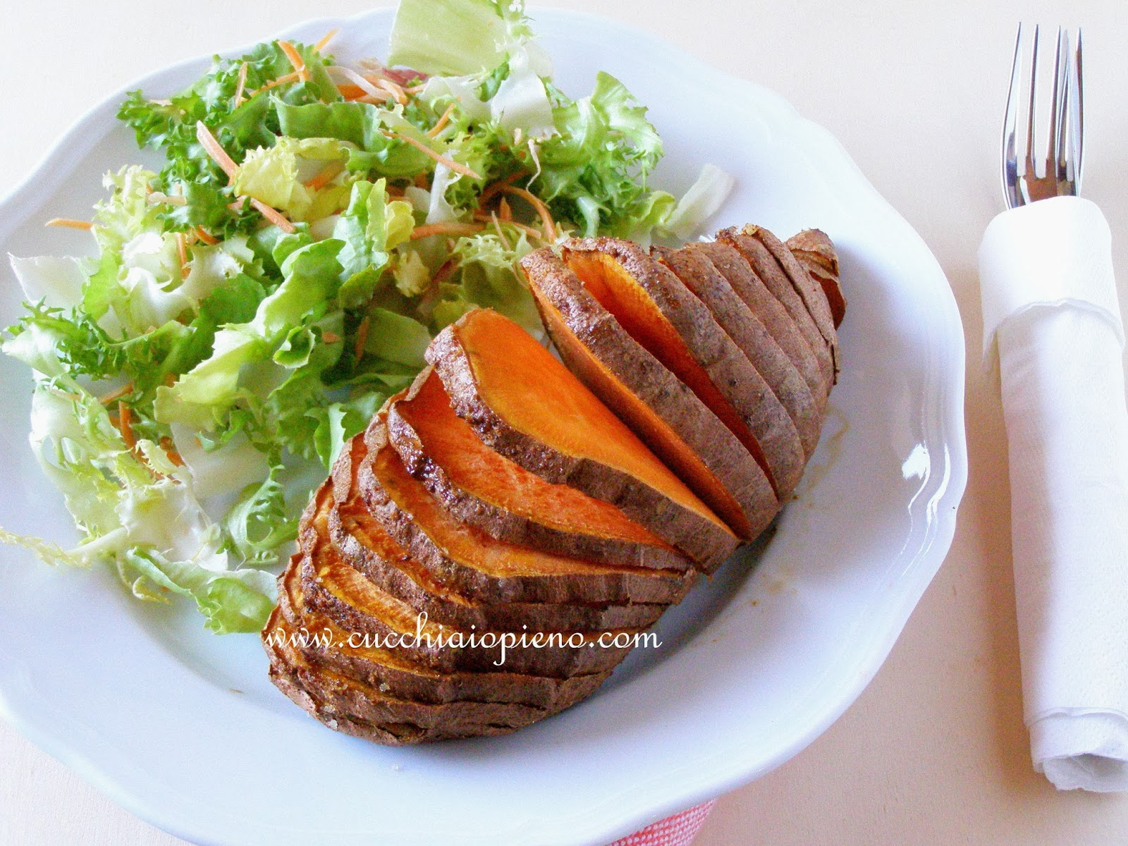 batata-doce assada deliciosa