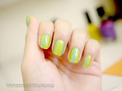 EbeautyBlog.com Nail Art Tutorial Gradient Sponge Technique
