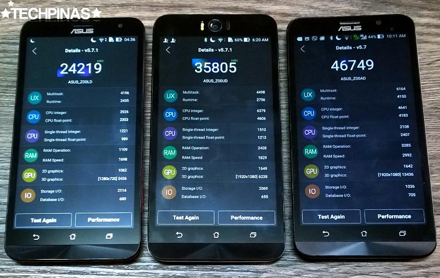 Asus ZenFone 2 Laser ZE550KL vs Asus ZenFone Selfie  vs. Asus ZenFone 2 ZE551ML