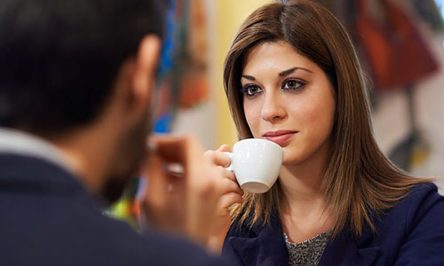 11 Types of Women a Man Always Comes Across,man woman drinking coffee first date