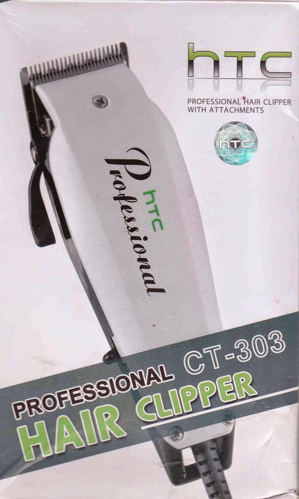 alat cukur HTC CT – 302 1 mesin cukur 4 kaki sebagai alat ukur potong rambut  dengan ukuran yang berbeda 1 buah sisir 1 buah kuas pembersih 870fef097c
