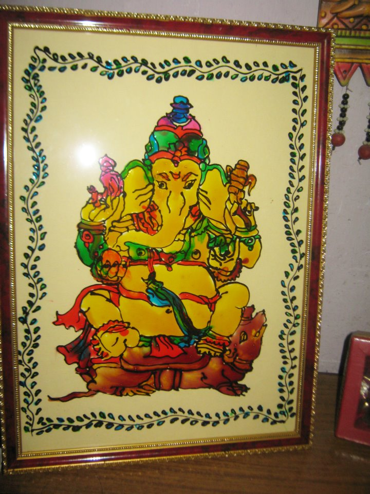 Ganesha Images For Glass Painting Ganesha Glass Painting