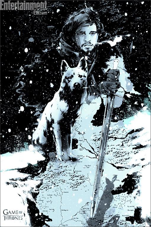 poster mondo Jon nieve - Juego de Tronos en los siete reinos