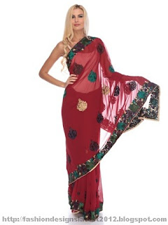 Bridal-Embroidered-Saree-styles