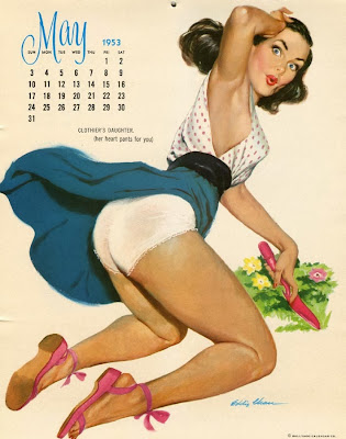 Eddie Chan pin up calendar girl