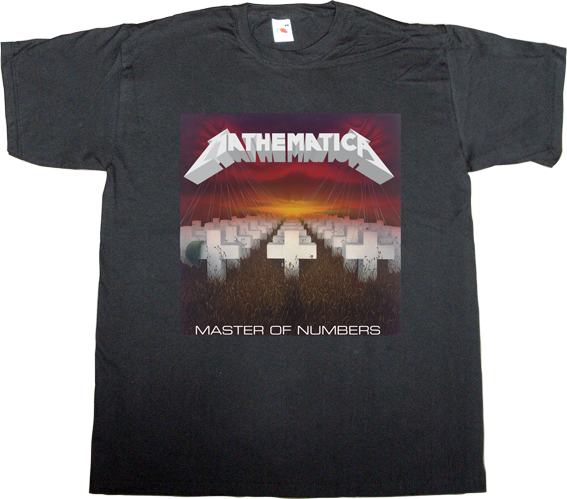 metallica trash metal fun math science t-shirt ephemeral-t-shirts