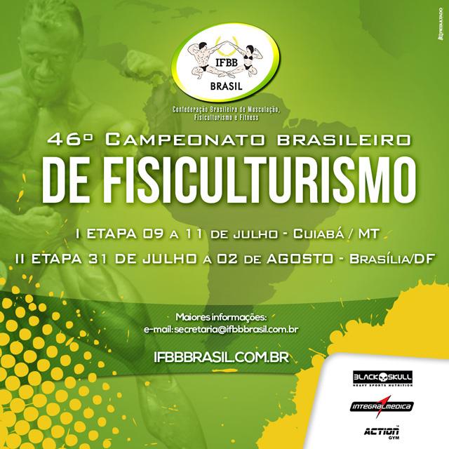 46º Campeonato Brasileiro de Fisiculturismo e Fitness IFBB. Foto: Divulgação