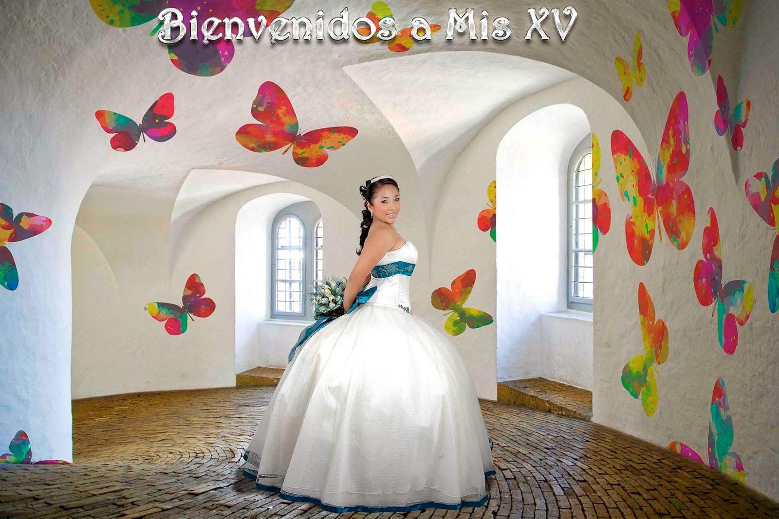 Interior en color blanco con mariposas de colores