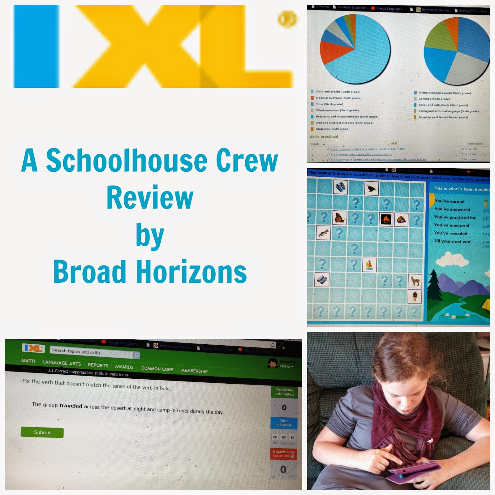Broad Horizons: Schoolhouse Crew Review: IXL