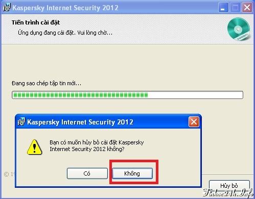 Miễn phí bản quyền 1 năm Kaspersky Internet Security 2012