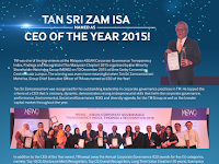 Tan Sri Zam Isa Named as CEO of The Year 2015 at MSWG CG